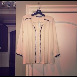 NWT Ark & Co Peasant Popover blouse shirt